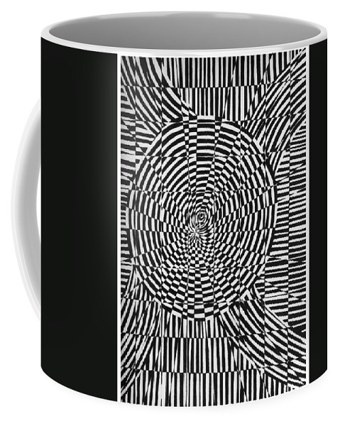 Abstract Coffee Mug featuring the drawing Unraveled by Crystal Hubbard