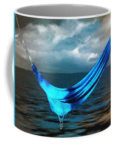 Surreal Coffee Mug featuring the painting Unravelling by RC DeWinter
