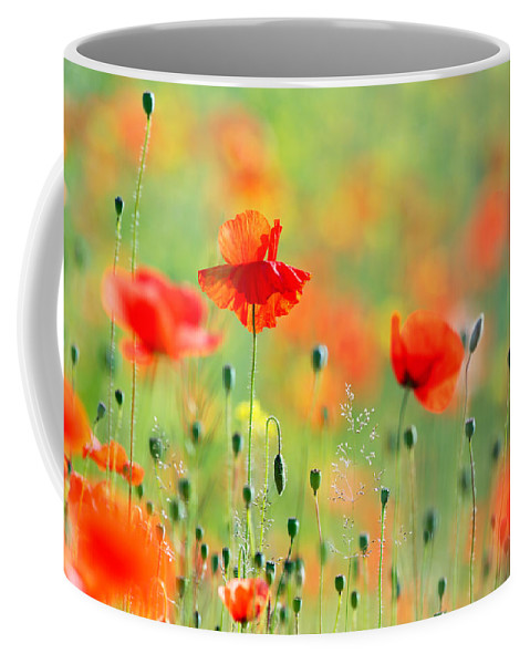 Bokeh Coffee Mug featuring the photograph Untited Colours Of Summer by Roeselien Raimond