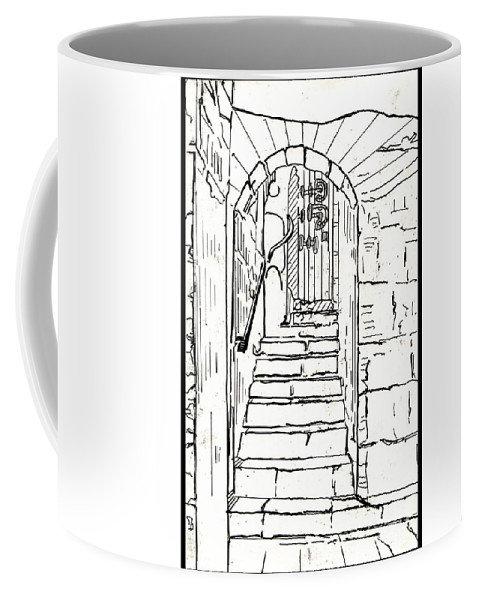 Bricks Coffee Mug featuring the drawing Untitled 2 by Xueling Zou