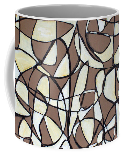 Abstract Coffee Mug featuring the painting Untitled 44 by Steven Miller