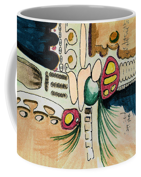 Nonobjective Coffee Mug featuring the painting Untitled 940410 by Sam Sidders