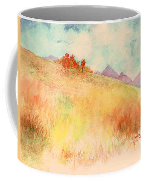 Landscape Coffee Mug featuring the painting Untitled Autumn Piece by Andrew Gillette