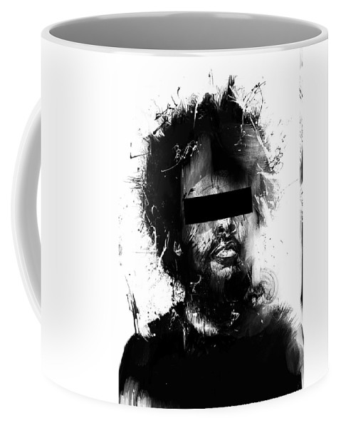 Man Coffee Mug featuring the mixed media Untitled by Balazs Solti