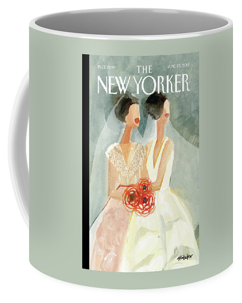 June Brides Coffee Mug featuring the painting June Brides by Gayle Kabaker