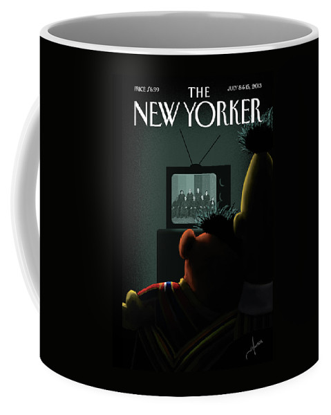 Gay Coffee Mug featuring the painting New Yorker July 8th, 2013 by Jack Hunter