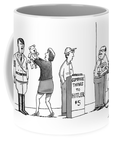 Hitler Coffee Mug featuring the drawing New Yorker September 5th, 2016 by Joe Dator