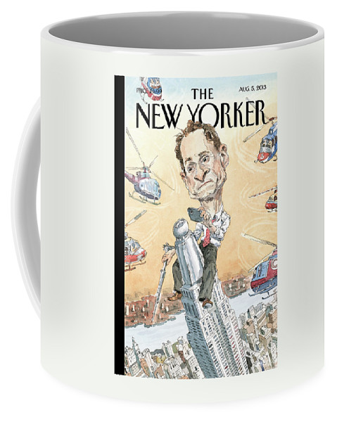 Penis Coffee Mug featuring the painting New Yorker August 5th, 2013 by John Cuneo