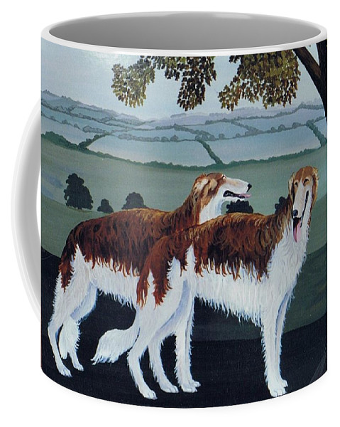 Borzoi Coffee Mug featuring the photograph Untitled by Maggie Rowe