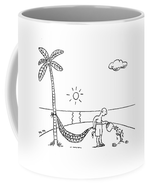 Shipwrecked Coffee Mug featuring the drawing New Yorker February 2nd, 2009 by Matthew Martin