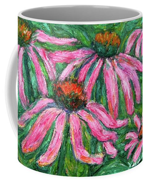 Flowers Coffee Mug featuring the painting Up Close And Magenta by Kendall Kessler