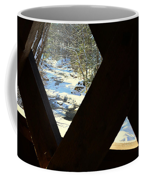 Gunstock River Coffee Mug featuring the photograph Up The River by Mim White