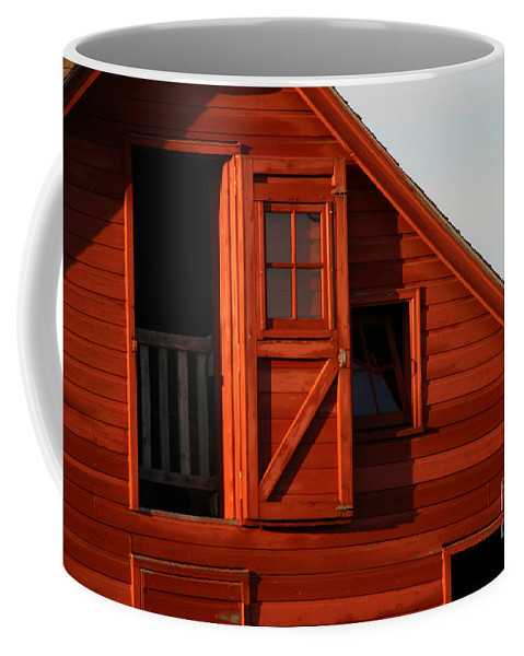 Barn Coffee Mug featuring the photograph Upper Barn Door-3704 by Gary Gingrich Galleries