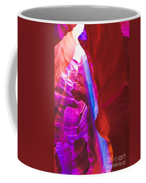 Antelope Canyon Coffee Mug featuring the photograph Upper Canyon 18 by Larry White