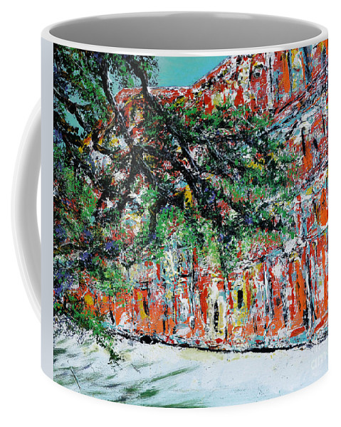 French Quarter Coffee Mug featuring the painting Upper Pontalba Building by Alys Caviness-Gober