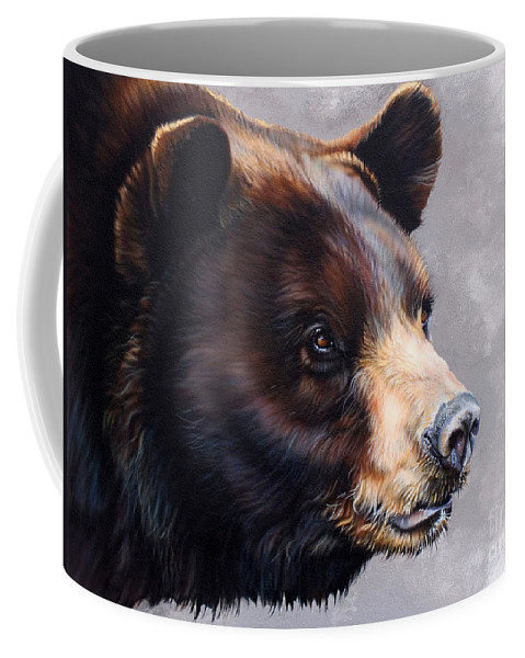 Bear Coffee Mug featuring the painting Ursa Major by J W Baker