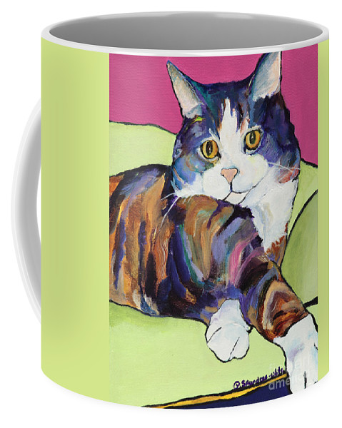 Pat Saunders-white Canvas Prints Coffee Mug featuring the painting Ursula by Pat Saunders-White