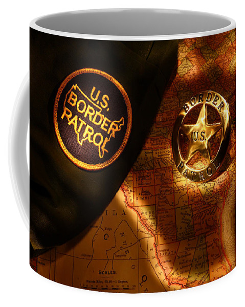 Us Coffee Mug featuring the photograph Us Border Patrol by Daniel Alcocer