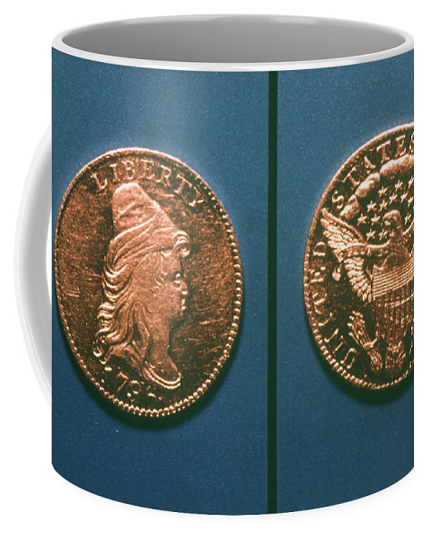 1796 Coffee Mug featuring the photograph U.s. Currency, 1796 by Granger