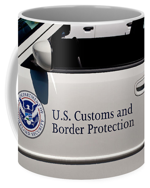 U.s. Coffee Mug featuring the photograph U.s. Customs And Border Protection by Tikvah's Hope