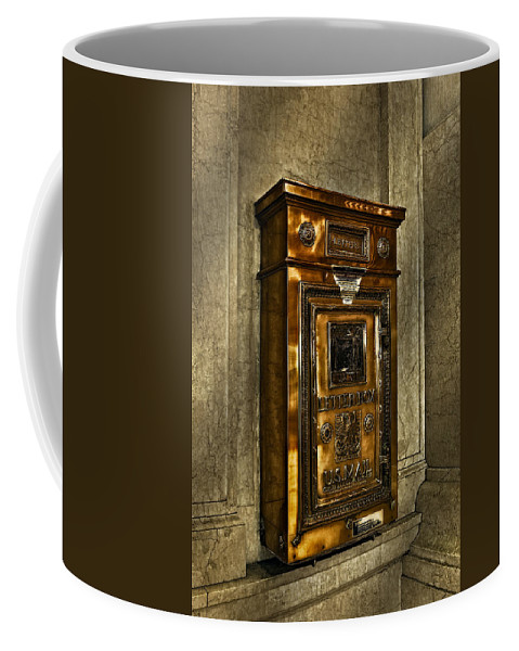 Grand Central Station Coffee Mug featuring the photograph Us Mail Letter Box by Susan Candelario
