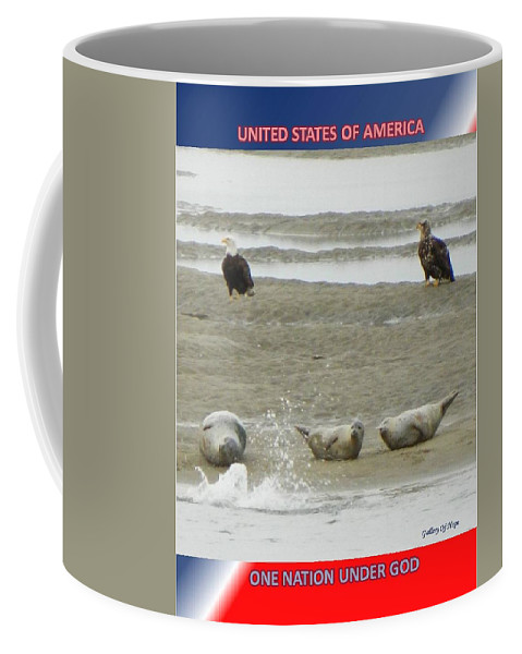Military Coffee Mug featuring the photograph USA by Gallery Of Hope