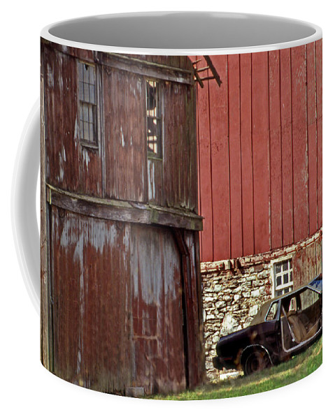 Car Coffee Mug featuring the photograph Used Car Lot by Skip Willits