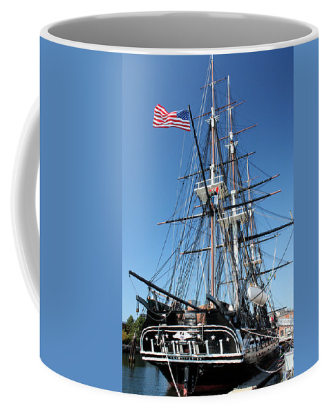 Uss Constitution Coffee Mug featuring the photograph Uss Constitution by Kristin Elmquist