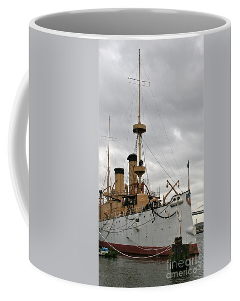 Olympia Coffee Mug featuring the photograph Uss Olympia by Rick Monyahan