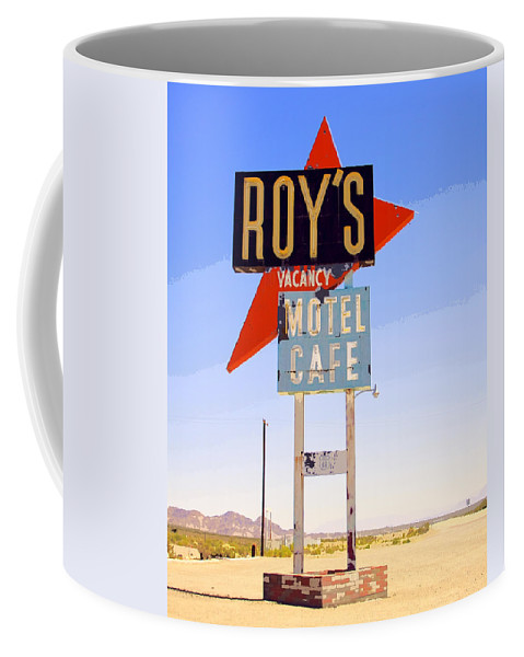 Roy's Coffee Mug featuring the photograph Vacancy Route 66 by William Dey