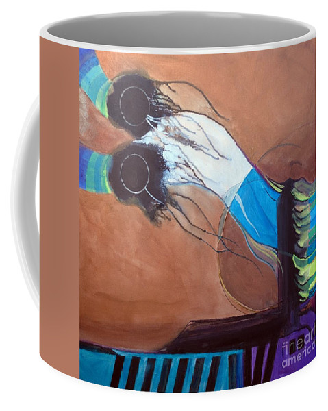 Judaic Coffee Mug featuring the painting V'ahavtah by Marlene Burns