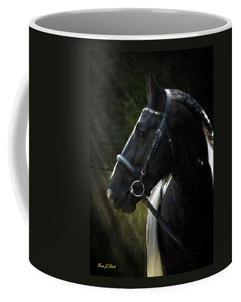 Horses Coffee Mug featuring the photograph Val Headshot by Fran J Scott
