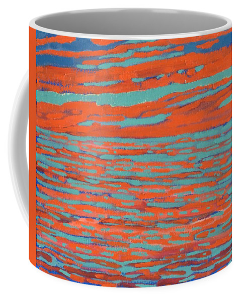 Sunset Coffee Mug featuring the painting Valdy Sunset by Phil Chadwick