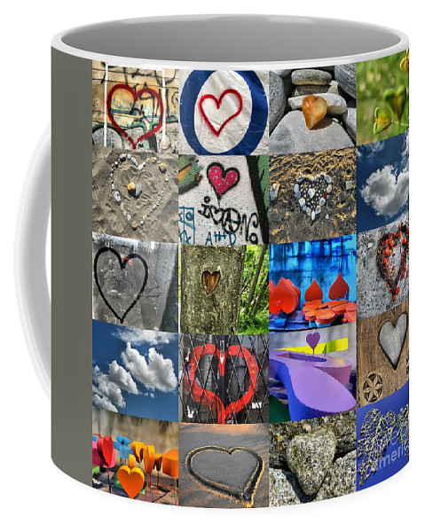 Valentine Coffee Mug featuring the photograph Valentine's Day - Hearts For Sale by Daliana Pacuraru
