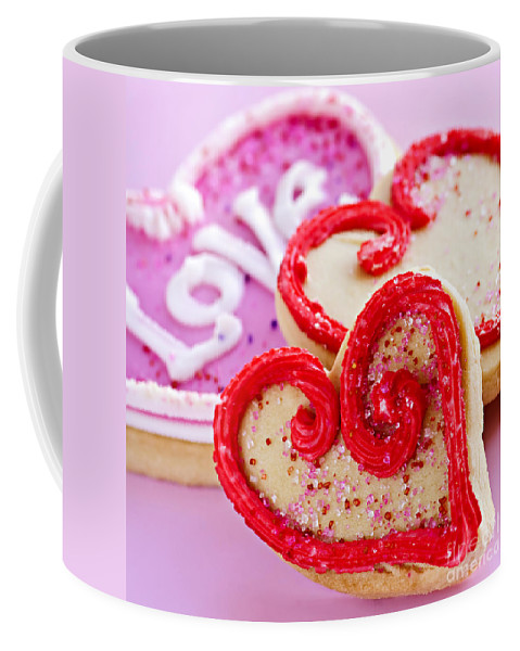 Cookies Coffee Mug featuring the photograph Valentines Hearts by Elena Elisseeva