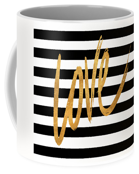 Valentines Coffee Mug featuring the digital art Valentines Stripes Iv by South Social Graphics
