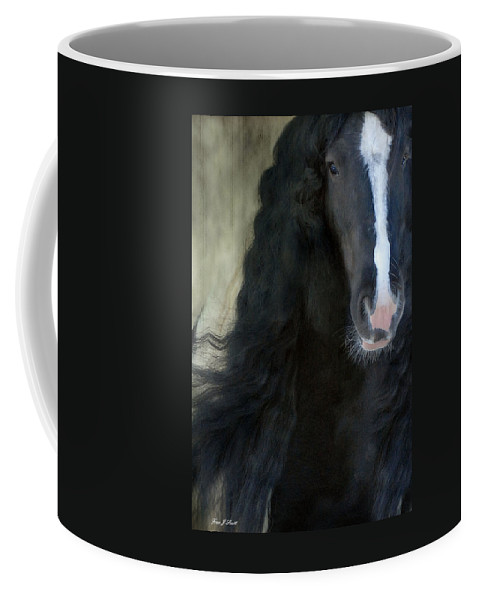 Gypsy Stallion Coffee Mug featuring the photograph Valentino Dreams by Fran J Scott