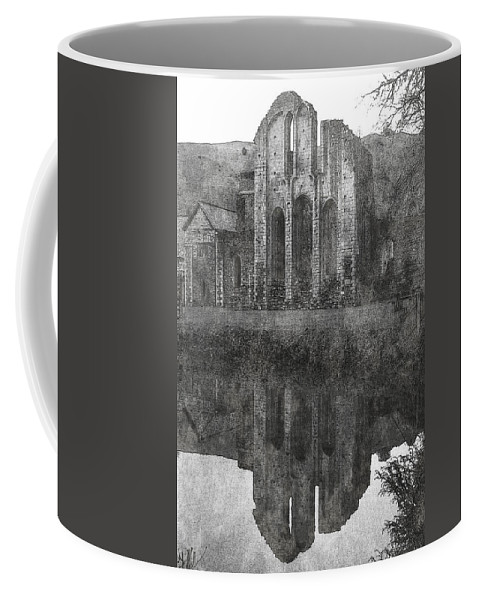 Valle Coffee Mug featuring the photograph Valle Crucis Abbey by Brainwave Pictures