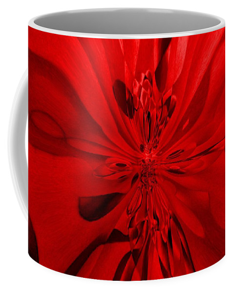 Genio Coffee Mug featuring the mixed media Values In Red by Genio GgXpress