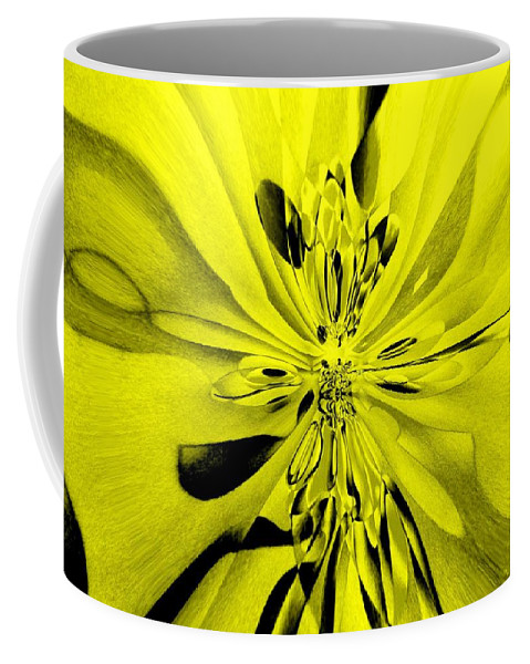 Genio Coffee Mug featuring the mixed media Values In Yellow by Genio GgXpress