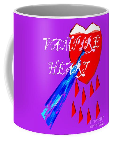 Dracula Coffee Mug featuring the painting Vampire Heart by Patrick J Murphy