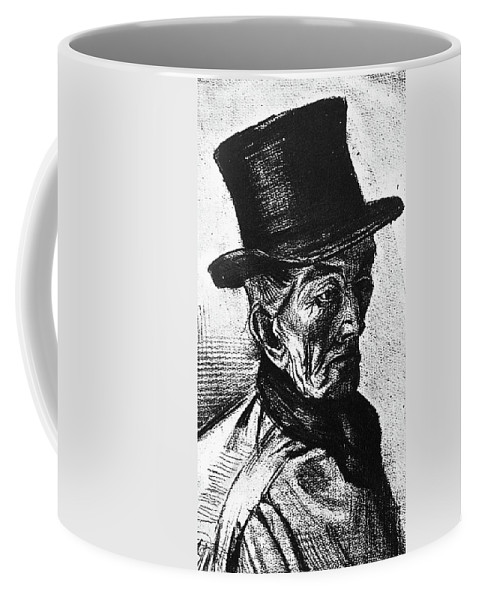 1882 Coffee Mug featuring the painting Man With Top Hat by Vincent Van Gogh