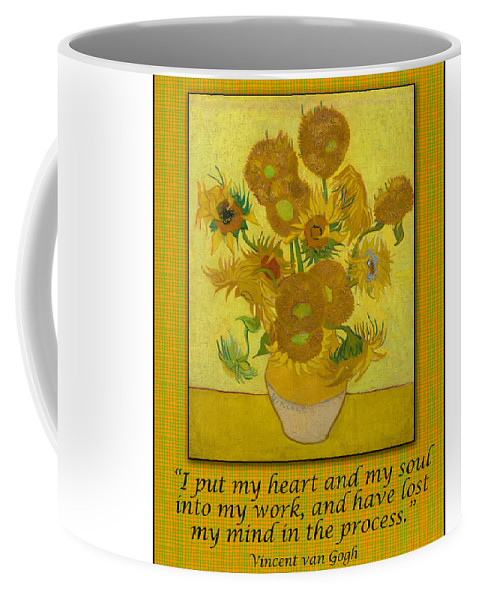 van gogh motivational quotes sunflowers ii coffee mug for
