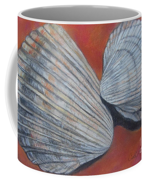 Cockle Coffee Mug featuring the pastel Van Hyning's Cockle Shells by Cathy Lindsey