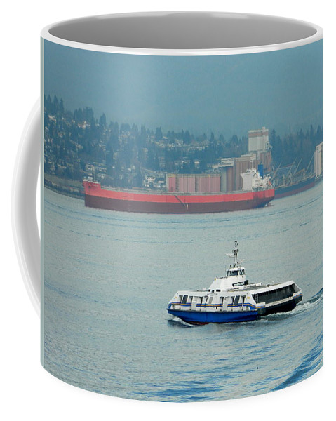 Sea Coffee Mug featuring the photograph Vancouver Sea Bus by Nicki Bennett