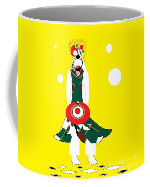 Girl Coffee Mug featuring the mixed media Vanguard Girl 2 by Ann Calvo
