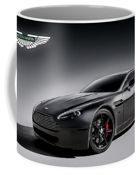 Aston Martin Coffee Mug featuring the digital art Vantage V12 by Douglas Pittman