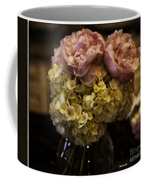 Flowers Coffee Mug featuring the photograph Vase Of Flowers by Madeline Ellis