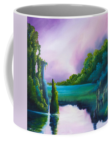 Sunrise Coffee Mug featuring the painting Vasperaso by James Christopher Hill
