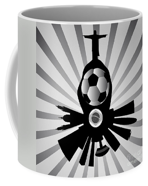 2014 Coffee Mug featuring the digital art Vector Rio De Janeiro With Jesus Redeemer by Michal Boubin